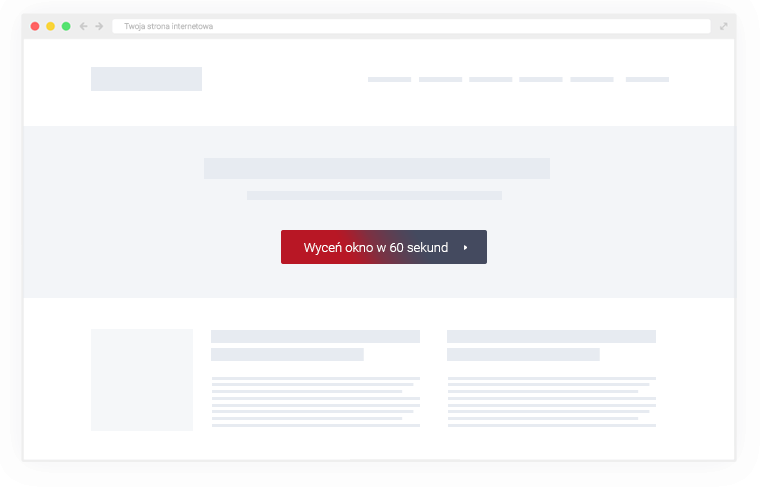 Potential client clicks on a button that leads to window configurator on your website