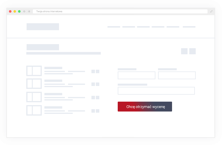 After adding all positions to pricing list and providing all necessary/required contact data - client confirms willingness of receiving an offer, by clicking on a button that starts the process of pricing realization